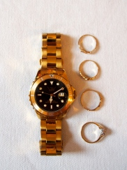 Watch and assorted gifted gold rings