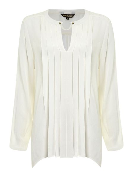 Biba Pleated Tunic Blouse